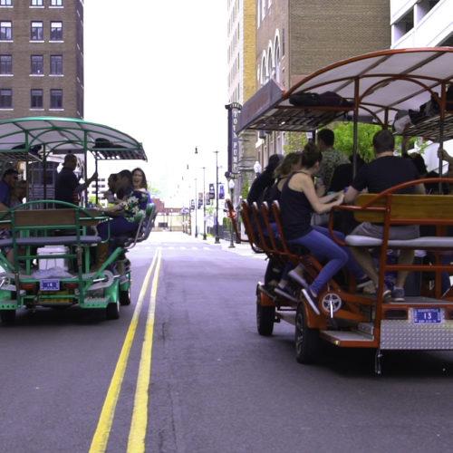 Detroit Pedal Pub race!